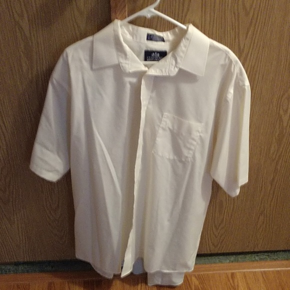 Stafford Other - Mens button dress shirt, cream color
